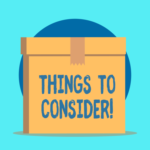 things to consider on box